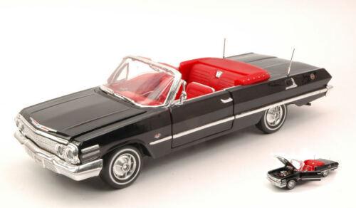 Chevrolet Impala Open 1963 Black 1:24 Model 2434BK WELLY