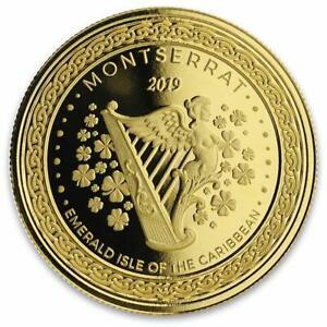 2019 1oz Montserrat Harp .9999 Gold Coin BU in Certi-Lock? #A472