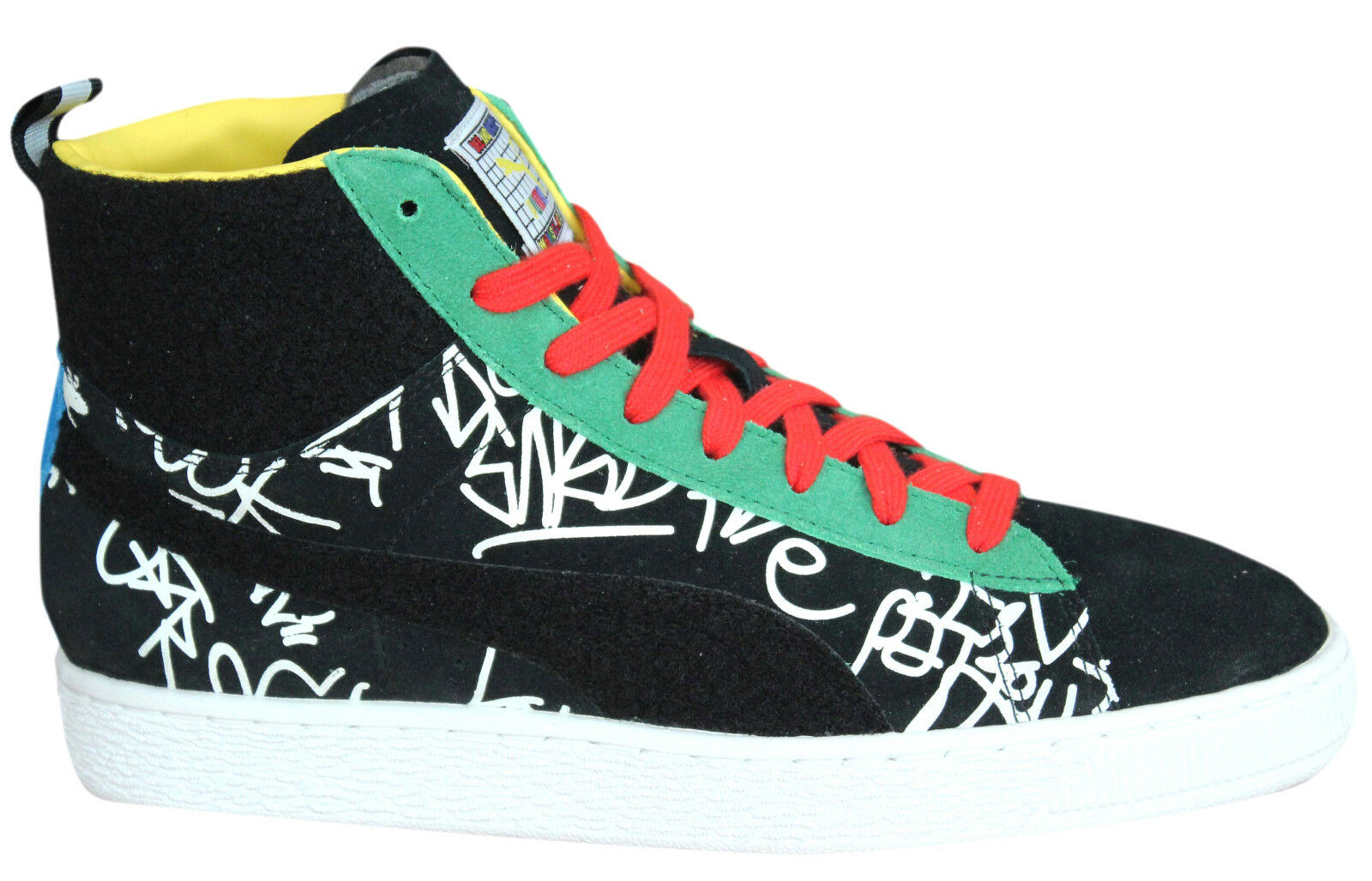 Puma Basket Mid Dee homme & Ricky Big ABC homme Dee Trainers Lace Up chaussures 361499 01 U101 c80781