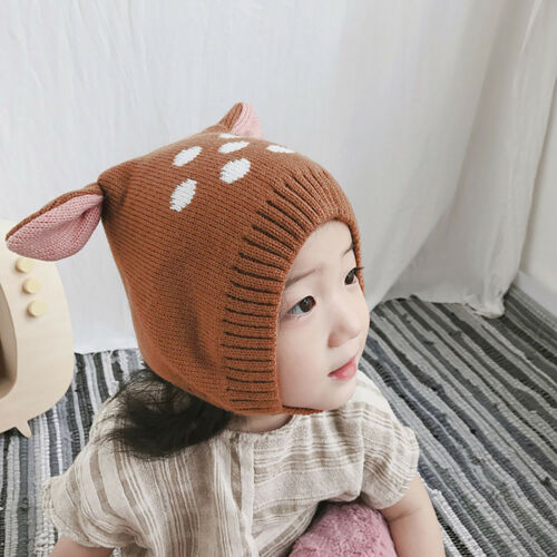 EE/_ EG/_ Winter Baby Boy Girl Beanie Hat Warm Cute Rabbit Ear Toddler Knitted Cap