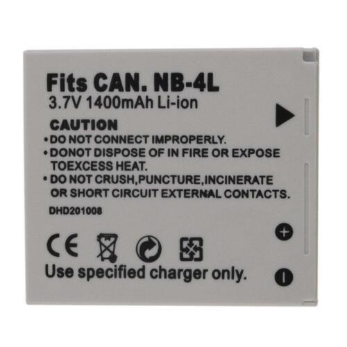 NEW 3.7V 1400MAH Replacement Li-Ion Battery for  NB-4L Camera GA