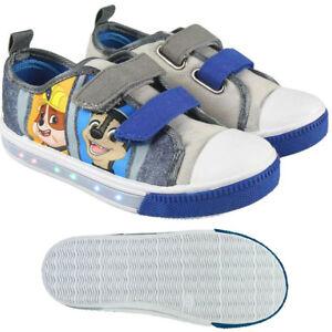 huge selection of bde91 8f4f6 Details zu Paw Patrol - Schuhe - Sneaker - Canvas - LED Blinkesohle - Grau  - Gr.: 23-30