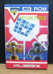 Picture-Puzzle-msx-ROM-HAL-Laboratory-Inc-NEW-New-Old-Stock-1983-Vintage