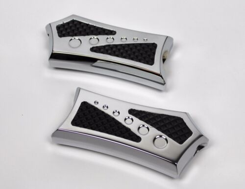 CHROME-E-O Passenger Pegs Boards with CHROME with RUBBER HARLEY TOURING