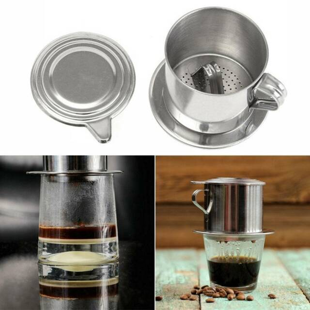 Portable Stainless Steel Coffee Drip Filter Maker Infuser For Home Traveling y