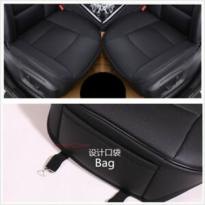 Luxury-Car-Seat-Cover-PU-Leather-Bamboo-Charcoal-Comfortable-For-BMW-amp-Toyota-blk