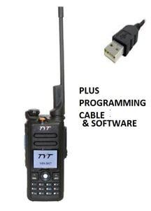 TyT-MD-2017-Dualbanda-transmisor-receptor-de-VHF-UHF-DMR-de-mano-Pre-Cargado-Y-Gps-Cable