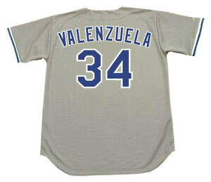 sale retailer 67198 864e3 Details about FERNANDO VALENZUELA Los Angeles Dodgers 1981 Majestic  Throwback Away Jersey