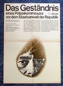 DDR-Poster-Das-Gestandnis-un-Polizeikommissars-A2-Film-Poster-K-1306