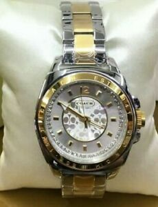 Coach-gold-silver-two-tone-with-crystals-ladies-womens-watch