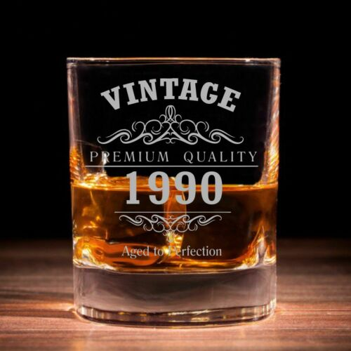 Vintage 1990 30th Anniversaire traditionnel whisky verre