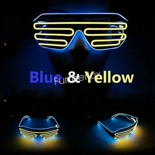 EL Glow Glasses LED Light Up Party Wire Sunglasses Shades Bar Nightclub Rave