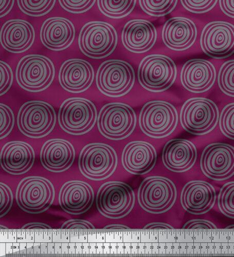 Soimoi Stoff Spirale und Streifen geometrisch Stoff Meterware drucken-GMD-539YE