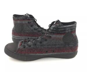 fb450bde443706 NEW Converse Chuck Taylor All Star Woolrich Hi Gray Red Shoes ...