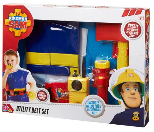 03369 Fireman Sam Utility Belt Set Inc Torch /& semblant Talkie Walkie 3 Ans