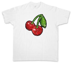 Cherry Rockabilly Tattoo OLDSCHOOL CHERRIES VINTAGE LOGO I T-SHIRT