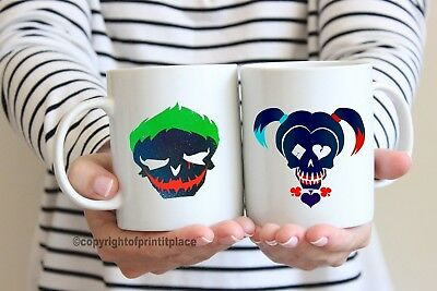 Logico Harley Quinn Joker Marvel Re E Regina Tè/tazza Caffè Coaster 10/15oz/magic-