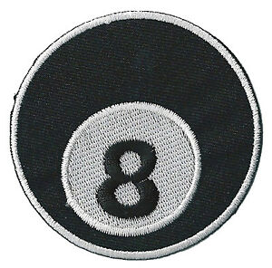 Patch-ecusson-patche-8-ball-eight-huit-billiard-thermocollant-brode