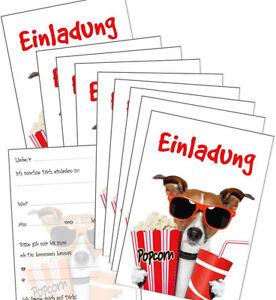 Das Bild Wird Geladen 10 Lustige Einladungskarten  Kindergeburtstag Kino Geburtstagseinladungen Kinder