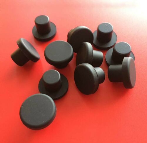 Black Hole Plugs Silicone Blanking Masking Finishing Inserts Solid//Hollow 9~19mm
