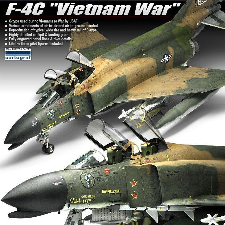 Academy 12294 F-4C Vietnam War Air Craft Combat Plane 1//48 Assembly Kit
