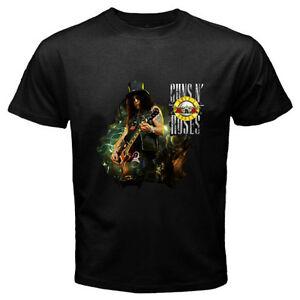 5d5584b9 Details about New SLASH Guns N' Roses Guitarist Rock Legend Men's Black T-Shirt  Size S to 3XL