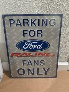 Chevy Racing Fans Parking Vintage Tin Sign Man Cave Garage Art