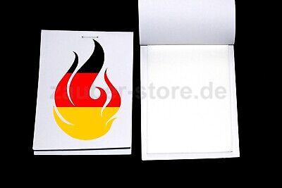 Pyropapier Weiss 15 Blätter 6x10 cm Flash Pyro Blitzpapier Zaubertrick