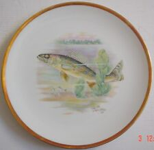 Hutschenreuther Bavaria Germany Collectors Plate WALL EYED PIKE