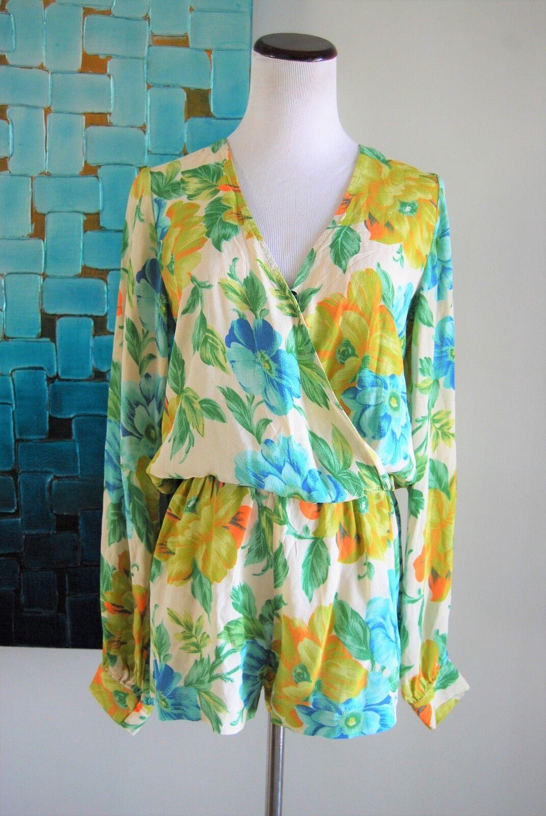 .blue MOON Long Sleeve Floral Romper. Size M