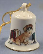 Tibet spaniel terrier Porzellan glocke figur porzellan weihnachtsglocke 119