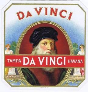 Da Vinci- Original Externe Cigare Boîte Label- Tampa- Havana tSQgs0l2-09122930-142984264