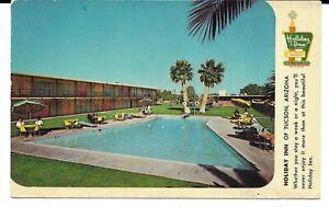 HOLIDAY-INN-OF-TUCSON-ARIZONA-VINTAGE-1950-039-S-60-039-S-UNUSED-POSTCARD