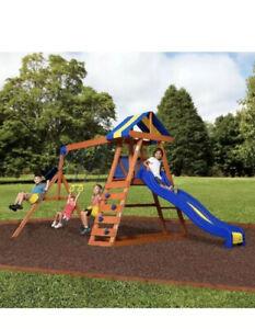 Big Backyard Dayton Wooden Cedar Swing Set Outdoor ...