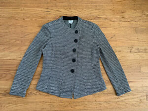 Armani-Collezioni-Womens-sz-6-Chevron-textured-Jacket-blazer