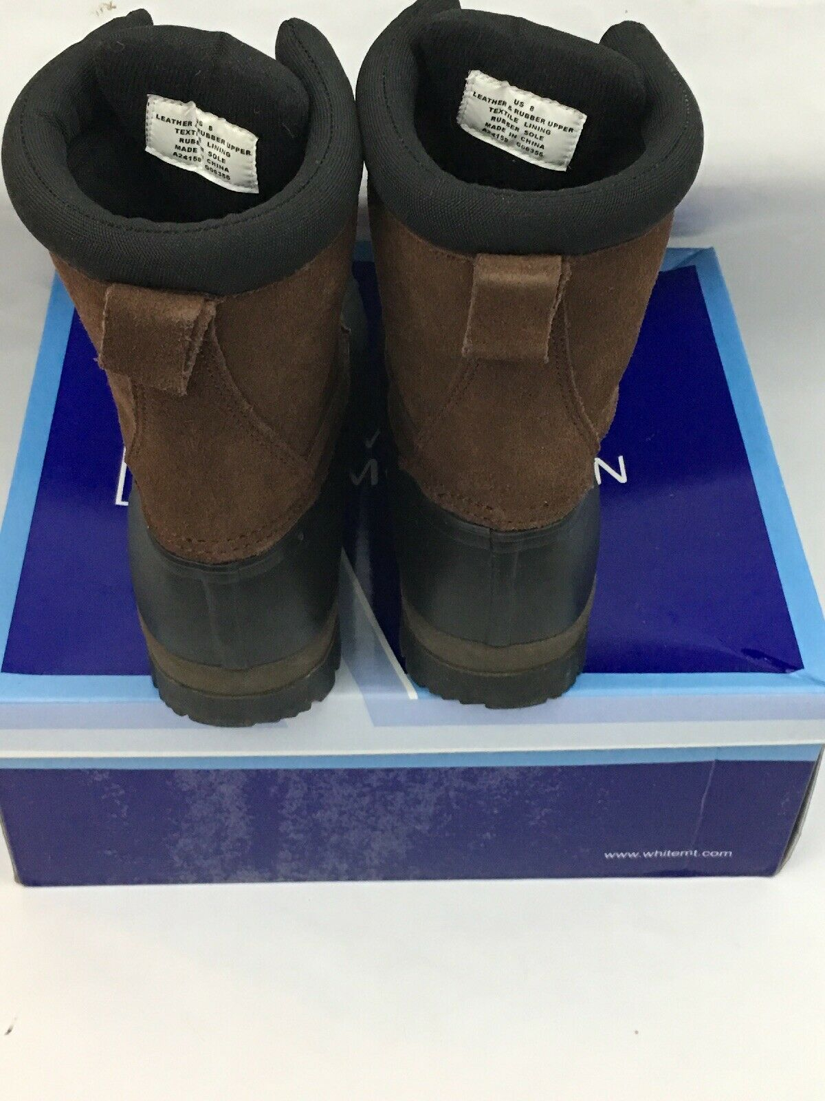 WHITE MOUNTAIN BROWN SUEDE Black LEATHER BOOTS TANTALAS 8M 8M 8M 546938