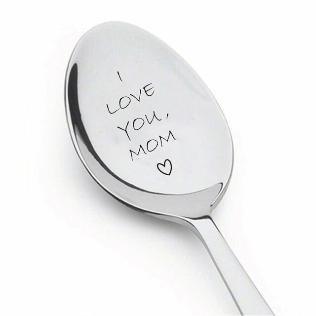 I Love You Mom Spoon - Customized Gift Unique Birthday, Valentines Day Gifts for