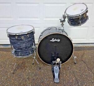 Ludwig-2011-Keystone-All-Star-3-Piece-Shell-Drum-Kit-Black-Abalone-Pearl-Finish