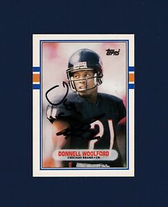 Donnell Woolford signed Chicago Bears 1989 Topps Rookie Update football card