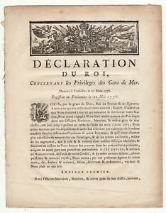 1778-French-Royal-act-concerning-the-privileges-of-seafarers-in-American-War