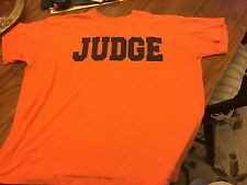 JUDGE  NYHC HARDCORE Early Rare Logo T-Shirt XL  Orange