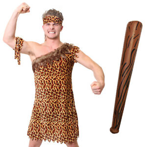 Adults Fancy Dress Cave Man Party Wig Accessory Womens Book Week Day Supplies