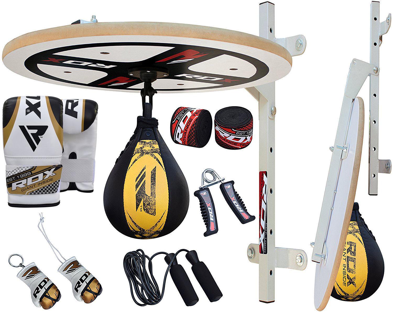 RDX MMA 12pc Boxeo Plataforma Pera Velocidad Bola Thai Speed Bag Entrenamiento...
