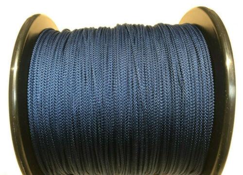 Perline 8 treccia in poliestere Blu scuro 2mm Stringa, fai da te Cavo Cieco