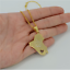 Iraq Map Middle East Muslim Allah Name18K Gold Plated Necklace Chain Pendant