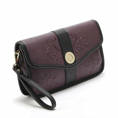 New Women PU Leather Handbag Party Evening Envelope Clutch Bag Wallet Tote Purse
