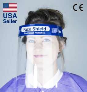 Safety Full Face Shield 1 PC Clear Reusable Washable Protection Cover Face Mask