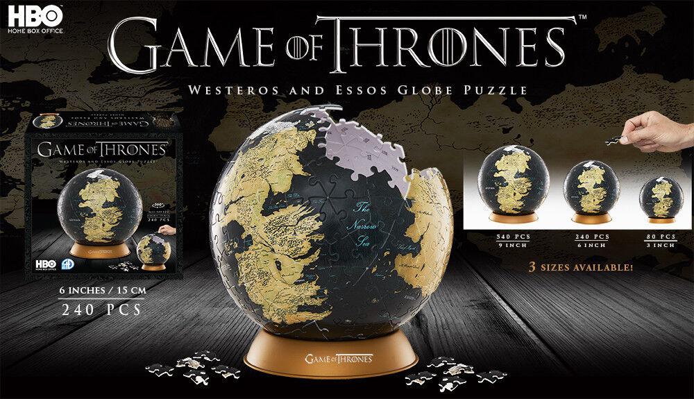 4d stadtbild game of thrones globus weltkarte 240pcs neue hp 3d - puzzle