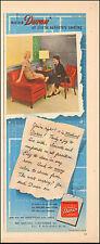 1950-Vintage ad for Masland Duran`Plastic Furniture Covering`Retro Red (061915)