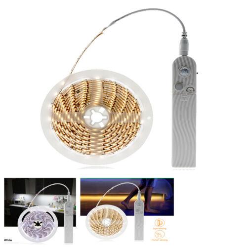 2835 SMD LED Motion Sensor Light Belt Strip Waterproof Cabinet Battery Operated